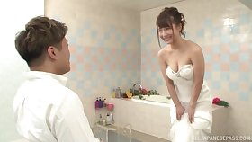 Japanese babe is about to acquire married, but she wants the best man's dick