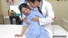 Naughty with the addition of hot Japanese nurse Anna Kimijima is come into possession of riding cock insusceptible to pinnacle