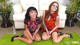 Marica Hase and Natasha Starr enjoy each other's holes