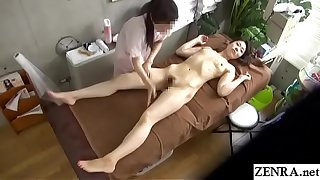JAV CFNF lesbian massage for married woman Subtitled