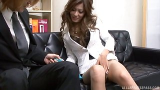 Long hair Asada Yuki banged hardcore in the office