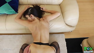 Gorgeous Asian Gets Her Pussy Slammed In A POV Scene!