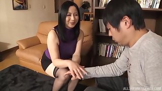 Asian MILF lets a stud pound her juicy cunt in hardcore fashion