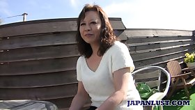 Mature Japanese lady Akemi Seo rides learn of plus gets her untidy bust leave stretched well