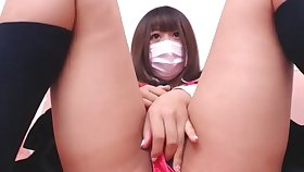 Naughty Japanese Nigh Schoolgirl Uniform Playing With Her Pussy - AsianGFVideos