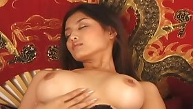 Asian Amateur Window-dressing Her Hairy Pussy To Her Man