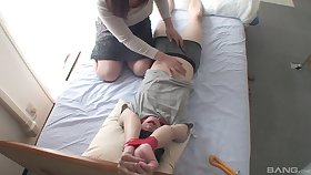 Close down b close cam records horny Japanese girl pleasuring a tied up challenge