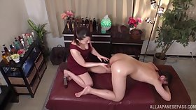 Nuru massage hard by a Japanese cutie ends up hardcore fucking